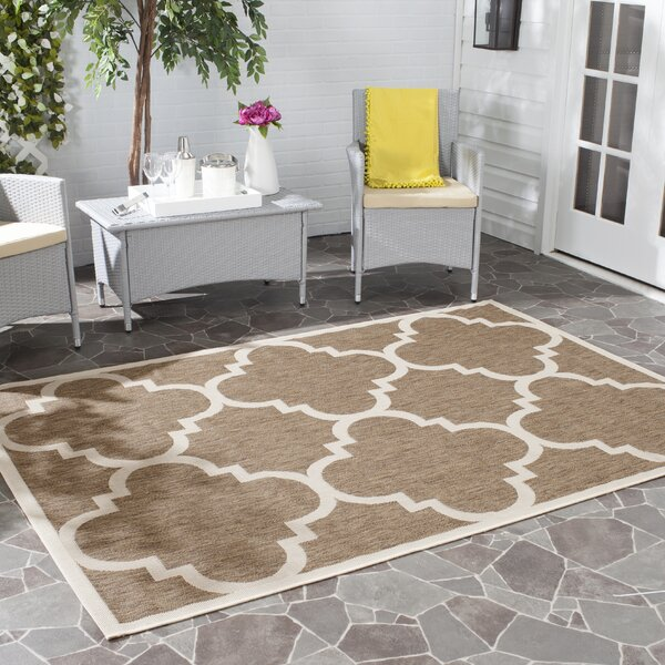 Octavius Brown Indoor Area Rug by Charlton Home