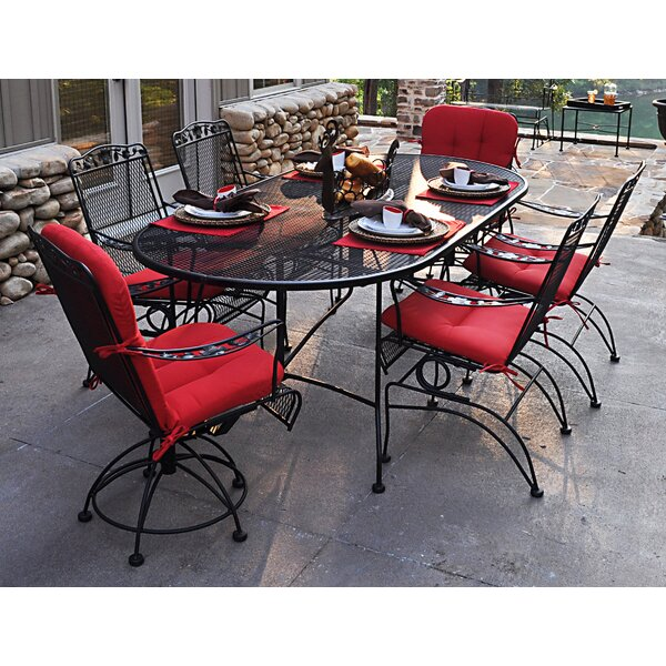 Vaillancourt 7 Piece Dining Set by Fleur De Lis Living