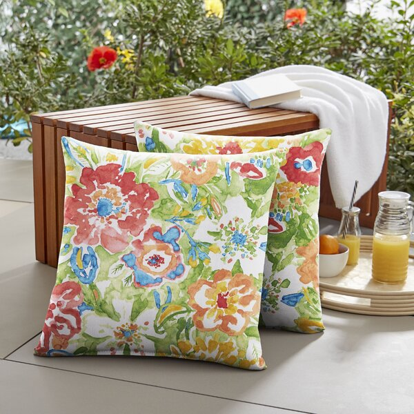 Kenia Indoor/Outdoor Throw Pillow (Set of 2) by August Grove