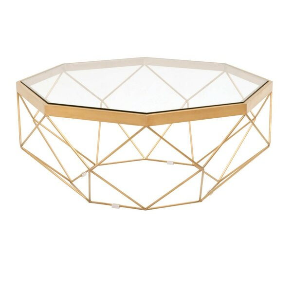RosaRio Metal Frame Coffee Table by Everly Quinn