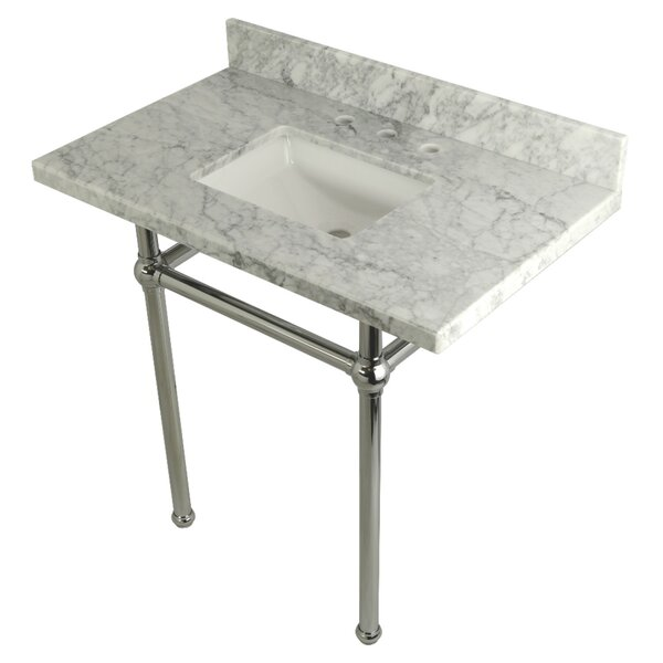 Carrara Marble 36 Single Bathroom Vanity Set by Kingston BrassCarrara Marble 36 Single Bathroom Vanity Set by Kingston Brass