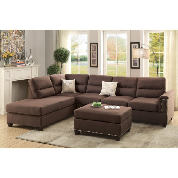 Venilale Reversible Sectional with Ottoman by Latitude Run