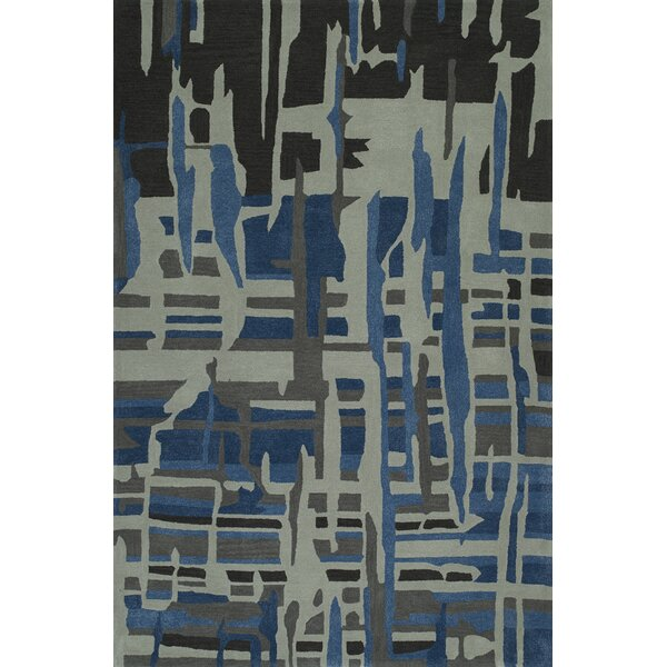 Gorham Hand-Woven Steel/Blue Area Rug by Latitude Run
