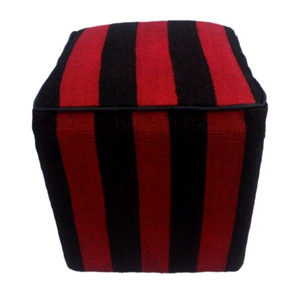 Bozrah Kilim Cube Ottoman by Winston Porter