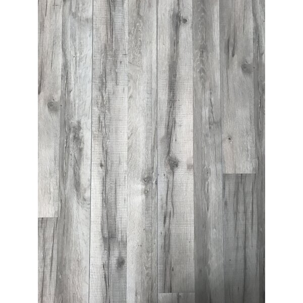 8 x 52 x 10mm Oak Laminate Flooring in Gray by ELESGO Floor USA