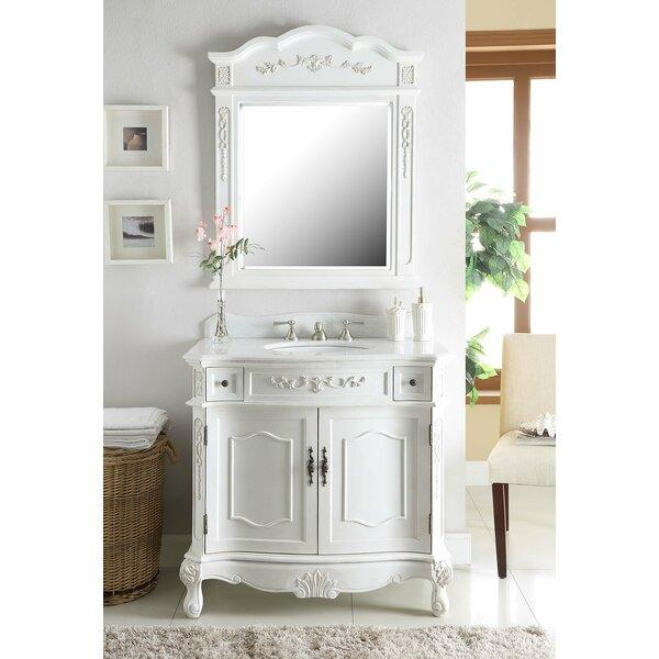 Gaskins 36 Single Bathroom Vanity Set with Mirror by House of Hampton