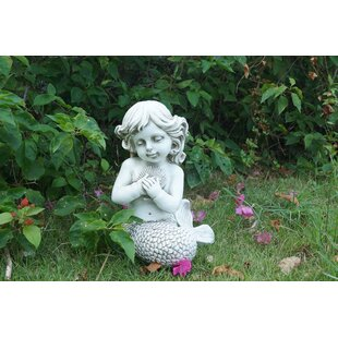 Good Hattie Mermaid Kneeling Holding Shell Statue