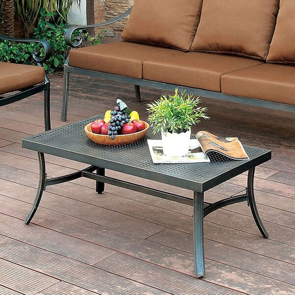 Villalobos Metal Coffee Table by Fleur De Lis Living
