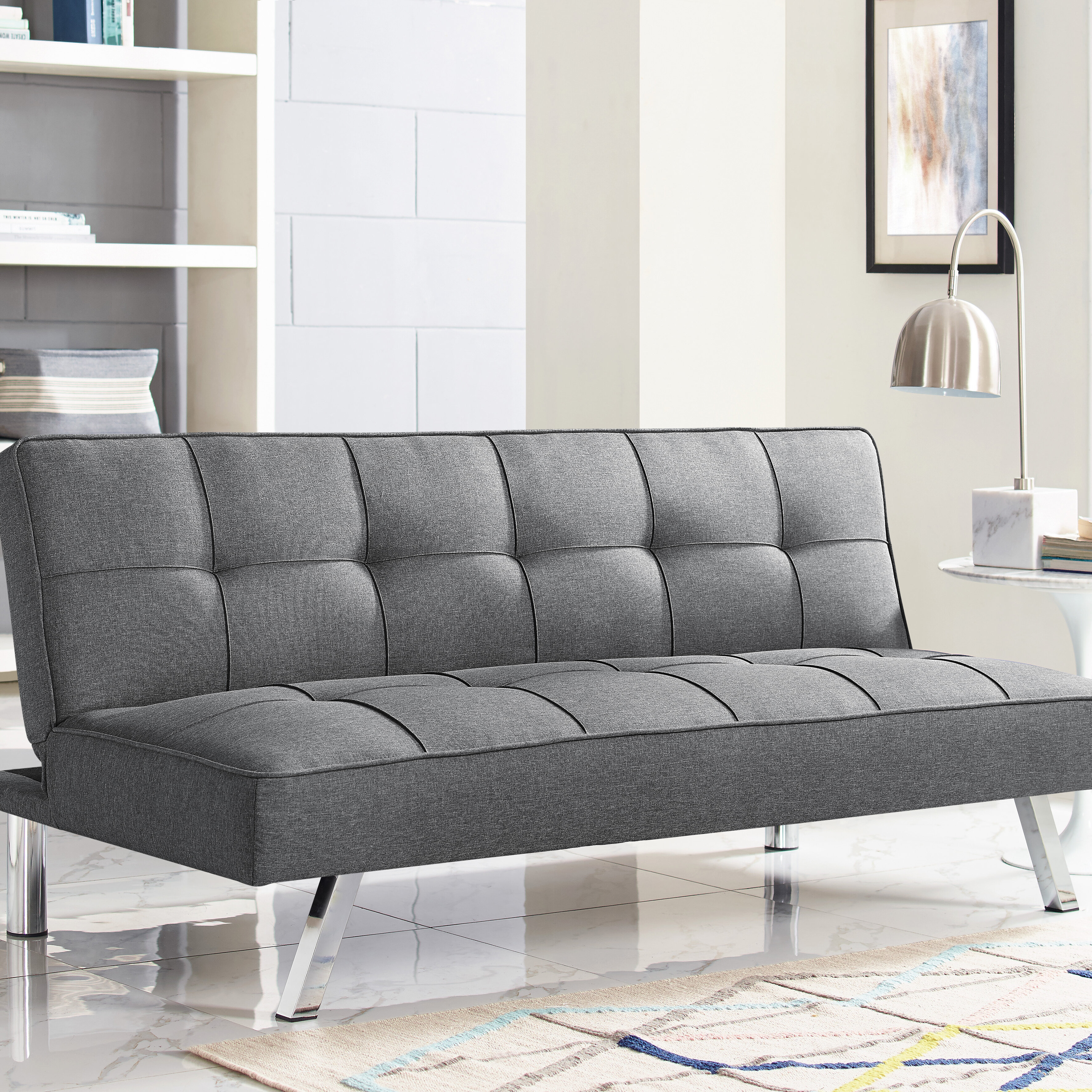 Twin 66 1 Tufted Back Convertible Sofa
