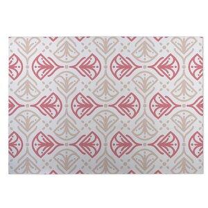 Kissing Tulips Pink/Beige Indoor/Outdoor Doormat