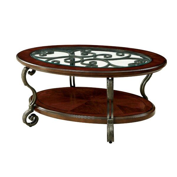 Fleur De Lis Living Glass Top Coffee Tables