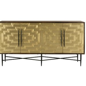 Nitin Brass Sideboard by Everly Quinn