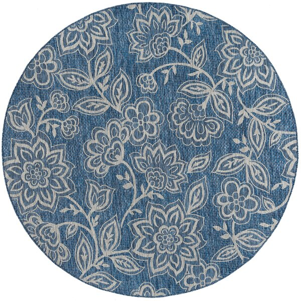 Stephane Transitional Indigo Indoor/Outdoor Area Rug by August Grove