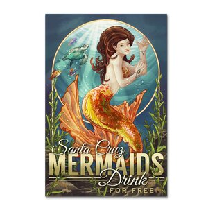 'Mermaid' Vintage Advertisement on Canvas by Trademark Fine Art