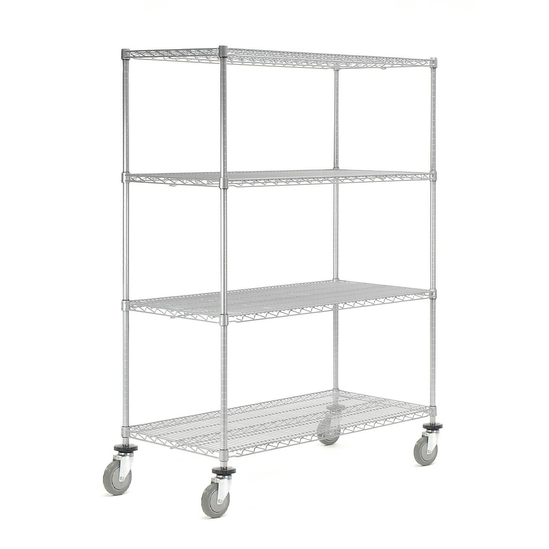 Nexel Wire Stem Caster Truck 4 Shelf Shelving Unit Reviews