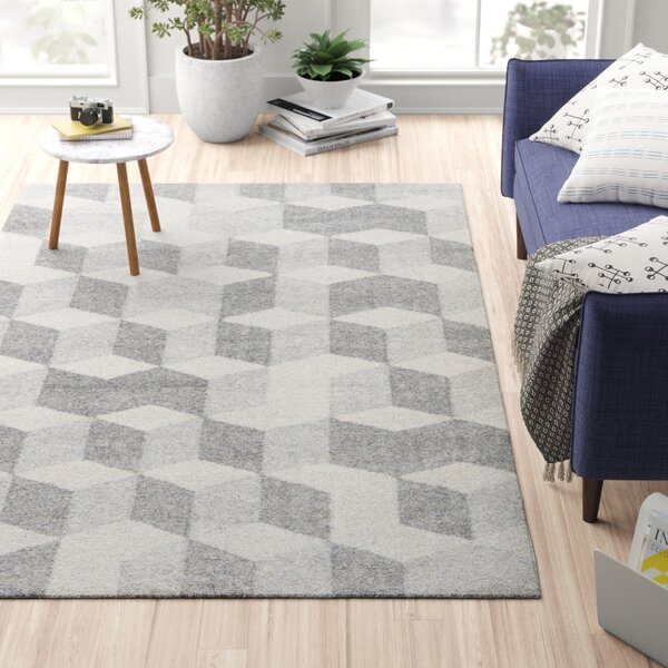 Samara Gray/White Indoor/Outdoor Area Rug by Zipcode Design