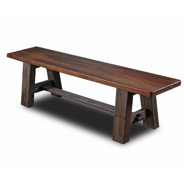 Tusk Tenon Wood Bench by Vintage Flooring and Furniture