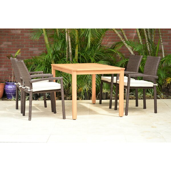 Cyr 5 Piece Dining Set with Cushions by Charlton Home
