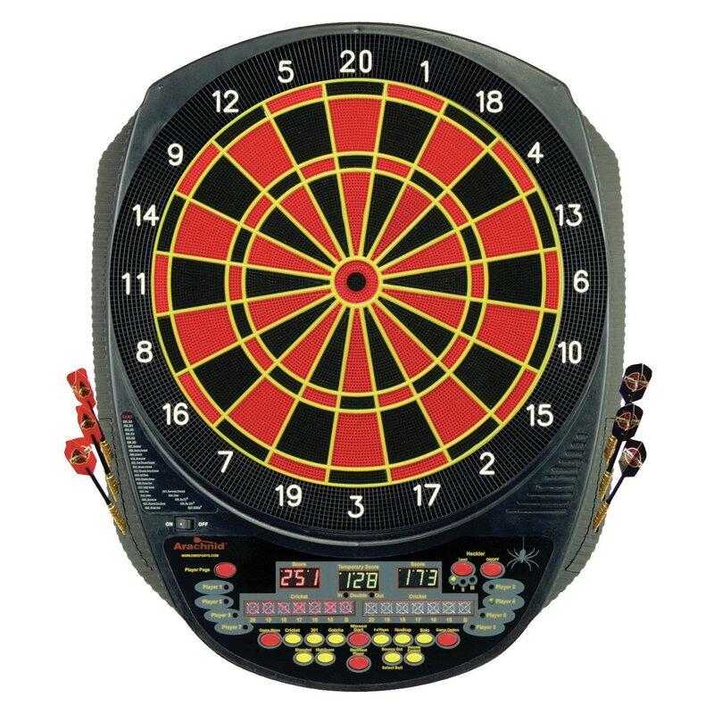 Arachnid Interactive 6000 Electronic Dart Board Game Wayfair
