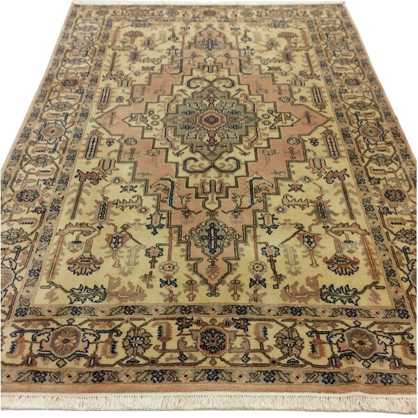 One-of-a-Kind Westbury Park Heriz Hand-Woven Wool Ivory Area Rug by Bloomsbury Market