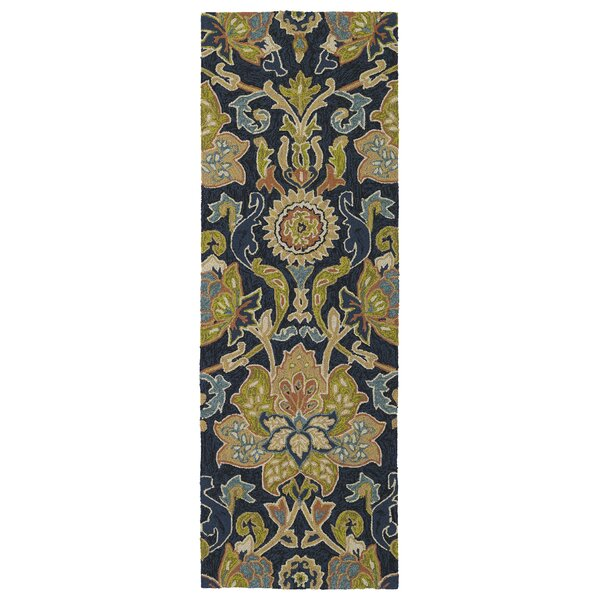 Manning Hand-Tufted Navy Indoor/Outdoor Area Rug by Charlton Home