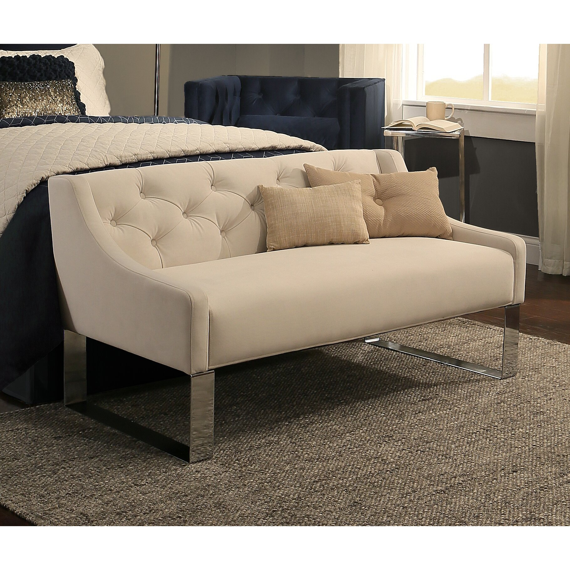 Republicdesignhouse upholstered bedroom bench reviews for Bedroom upholstered bench