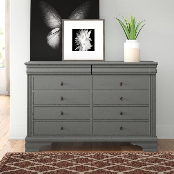Hewitt 6 Drawer Double Dresser by Three Posts
