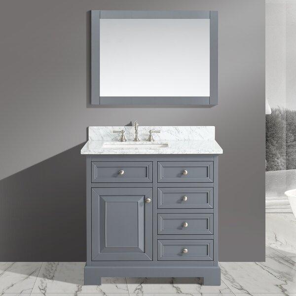 Cathey 36 Single Bathroom Vanity Set with Mirror by Charlton HomeCathey 36 Single Bathroom Vanity Set with Mirror by Charlton Home