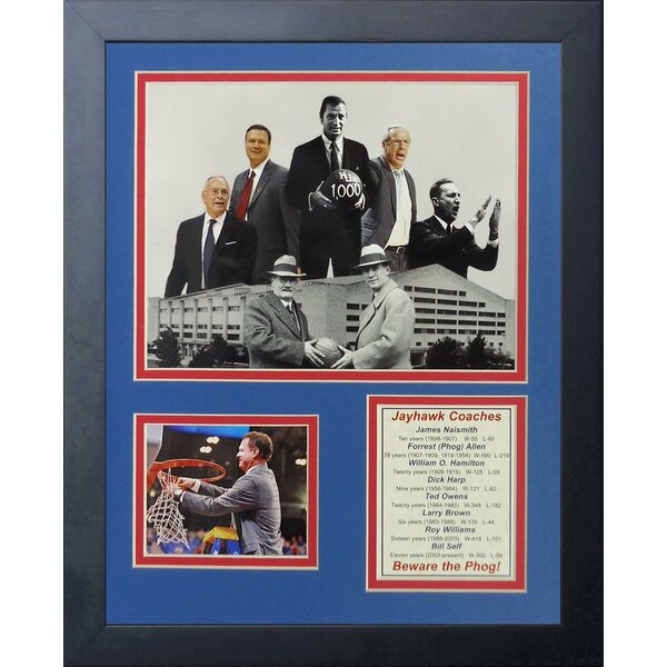 Kansas Jayhawks - Coaches Framed Photographic Print by Legends Never Die