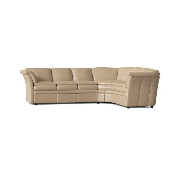 117 Genuine Leather Reversible Corner Sectional