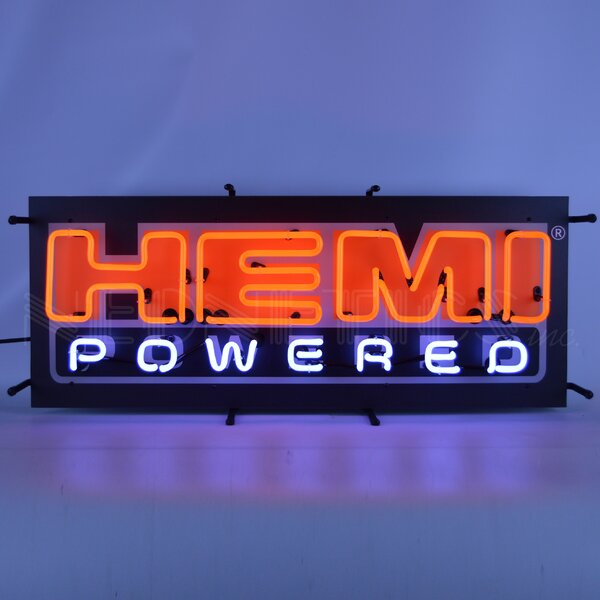 Hemi Powered with Backing Wall Light by Neonetics