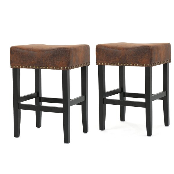 Lafountain Backless Fabric Counter Accent Stool (Set of 2) by Darby Home Co