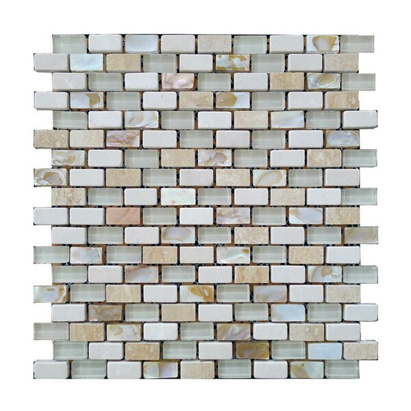 Glass Mosaic Tile in Gray/Beige by QDI Surfaces