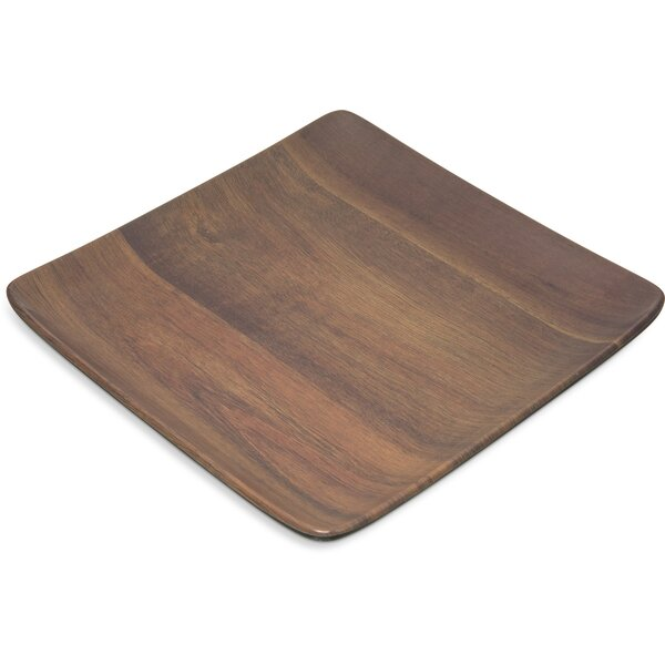 Epicure® Melamine 9 Acacia Grain Serving Tray (Set of 12) by Carlisle Food Service Products