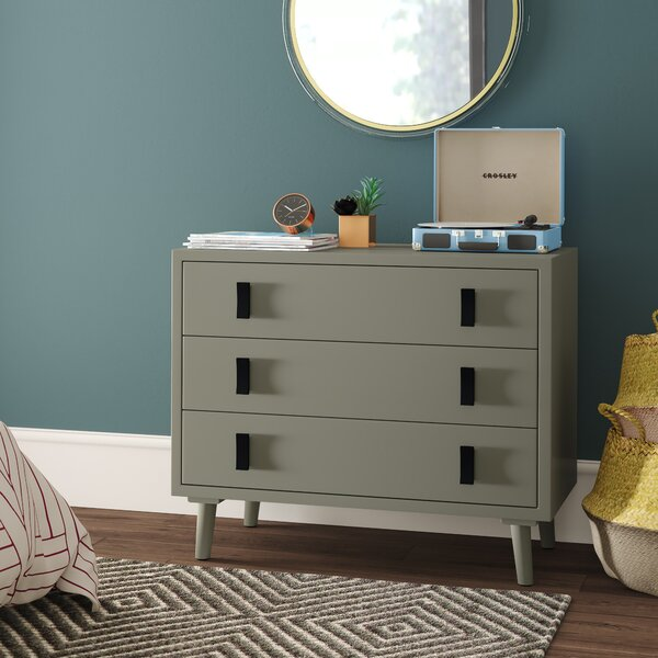 Feeley 3 Drawer Chest by Mercury Row