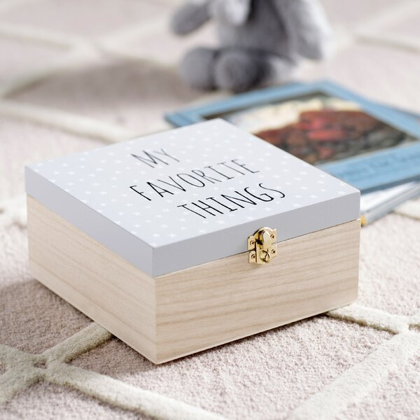 Amy My Favorite Things Wood Decorative Box by Harriet Bee