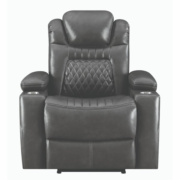 Pfarr Faux Leather Power Glider Recliner W000195449