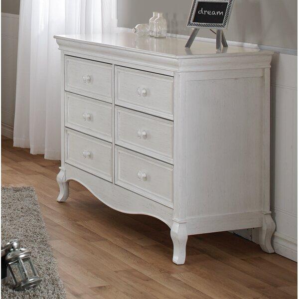 Diamente 6 Drawer Double Dresser by PALI