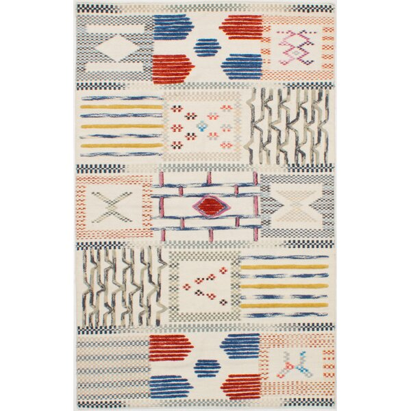 Greenwich Village Hand-Woven Wool Cream Area Rug by Bloomsbury Market
