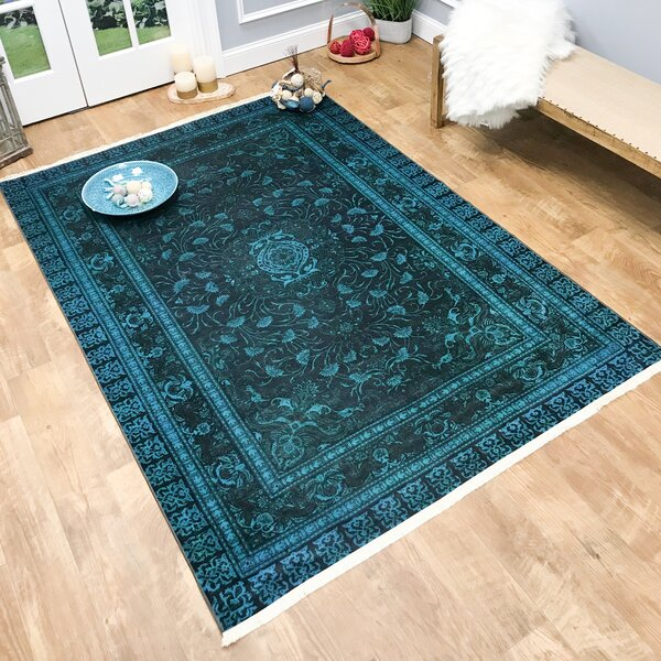 Covin Teal/Blue Area Rug by World Menagerie