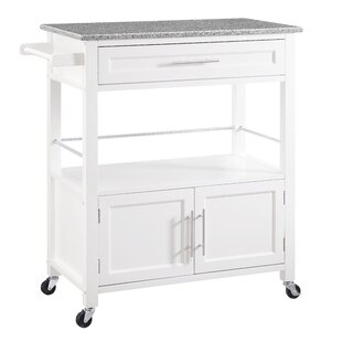 Charmant Snow Kitchen Island With Granite Top