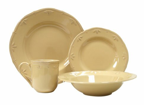 Caramel 16 Piece Dinnerware Set, Service for 4 by Thomson Pottery