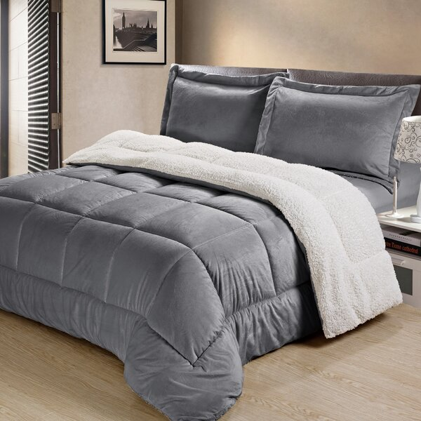 Abbey Box Reversible Comforter Set by Charlton Home