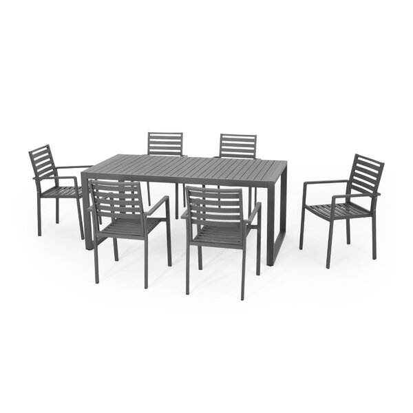 Truda Aluminum 7 Piece Dining Set by 17 Stories