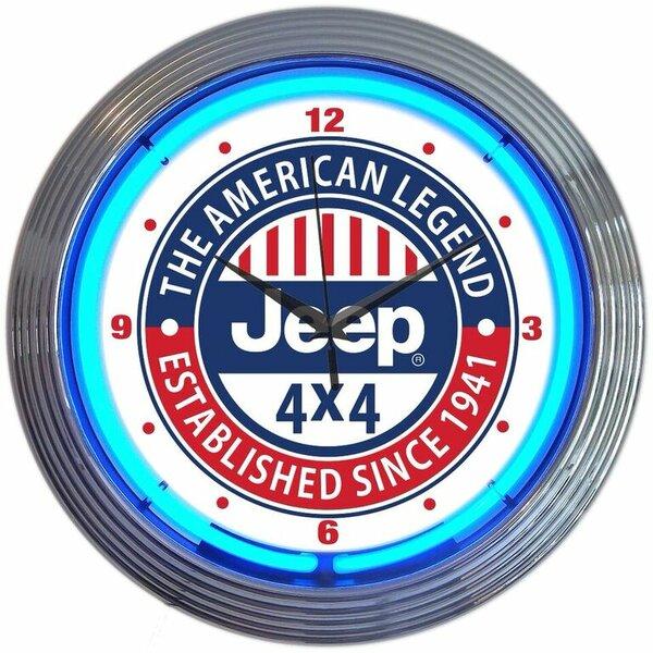 15 Jeep The American Legend Neon Clock by Neonetics