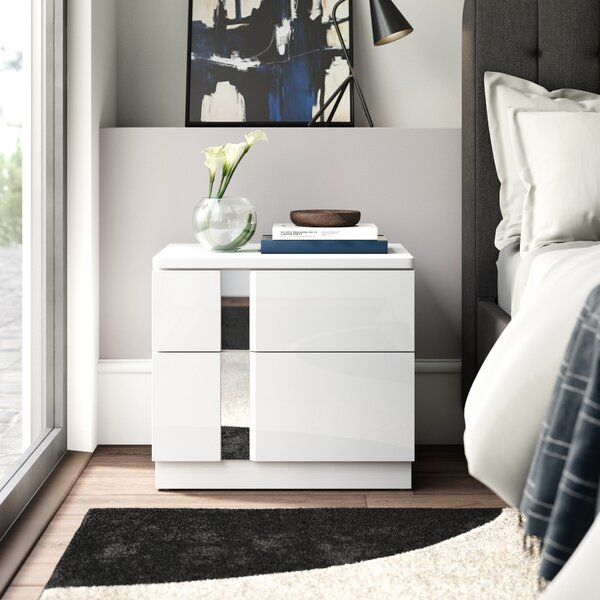 Lisbeth 2 Drawer Nightstand by Wade Logan