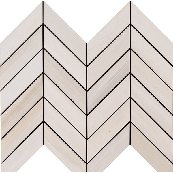 Watercolor Bianco 2 x 5 Porcelain Mosaic Tile