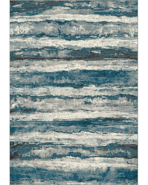 Miskell Blue/Beige Area Rug by Williston Forge