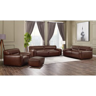 Milan Leather Configurable Living Room Set by Sunset Trading