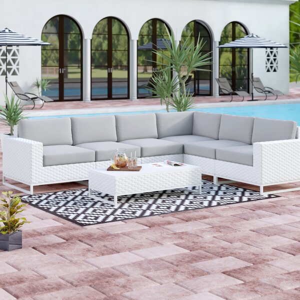 Menifee 7 Piece Sectional Seating Group with Cushions by Sol 72 Outdoor